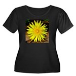 Dandelion Women's Plus Size Scoop Neck Dark T-Shir