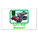 """Let's Talk Hudsons"" Rectangle Decal"