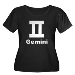 Gemini sign Women's Plus Size Scoop Neck Dark T-Sh