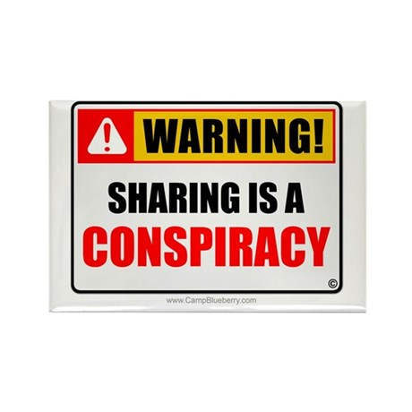 Sharing Conspiracy 'Clean Print' Rectangle Magnet