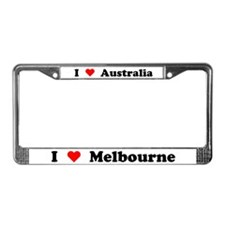 I love Melbourne License Plate Frame