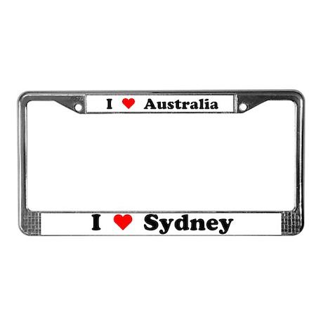 I love Sydney License Plate Frame