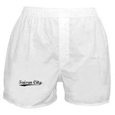 Vintage Suisun City (Black) Boxer Shorts
