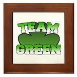 Team Green Framed Tile