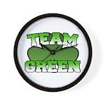 Team Green Wall Clock