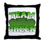 Team Green Throw Pillow