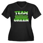 Team Green Women's Plus Size V-Neck Dark T-Shirt