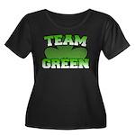 Team Green Women's Plus Size Scoop Neck Dark T-Shi