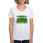 Team Green Women's V-Neck T-Shirt