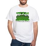 Team Green White T-Shirt
