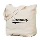 Vintage Tacoma (Black) Tote Bag
