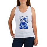 Hummingbird/Flower Women's Tank Top