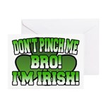 Don't Pinch Me Bro Greeting Cards (Pk of 10)