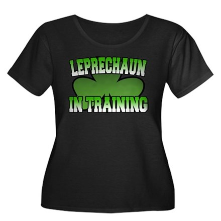 Leprechaun in Training Women's Plus Size Scoop Nec