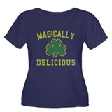 Magically Delicious Women's Plus Size Scoop Neck D