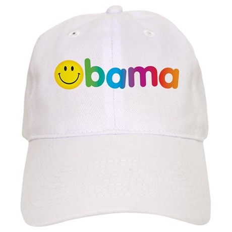 Obama Smiley Face Rainbow Cap