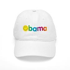 Obama Smiley Face Rainbow Cap