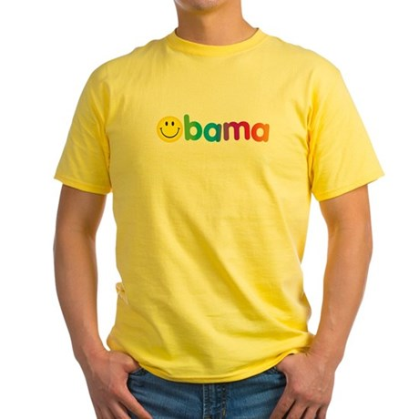 Obama Smiley Face Rainbow Yellow T-Shirt