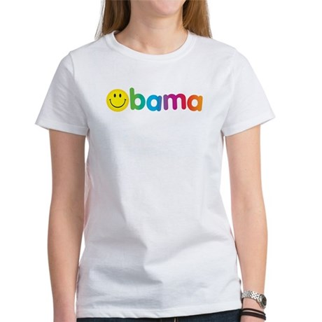 Obama Smiley Face Rainbow Women's T-Shirt