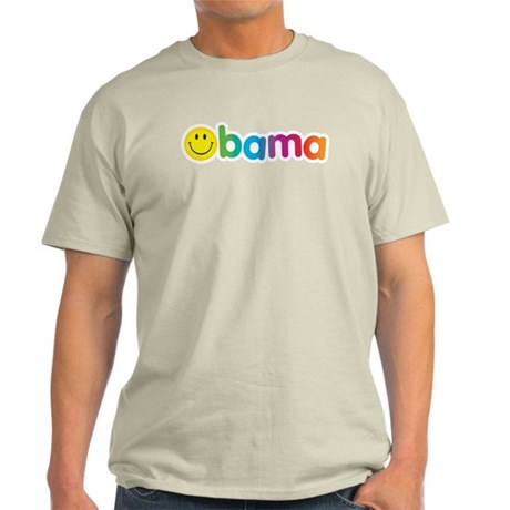 Obama Smiley Face Rainbow Light T-Shirt