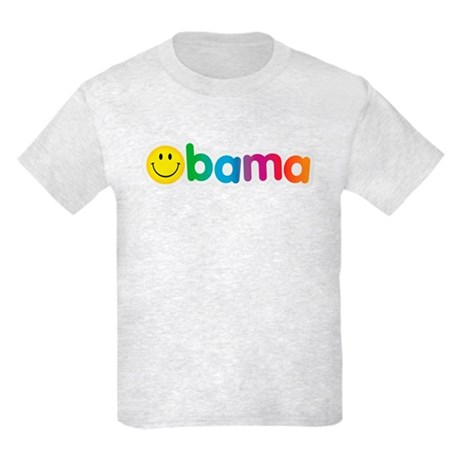 Obama Smiley Face Rainbow Kids Light T-Shirt