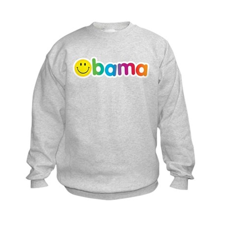 Obama Smiley Face Rainbow Kids Sweatshirt