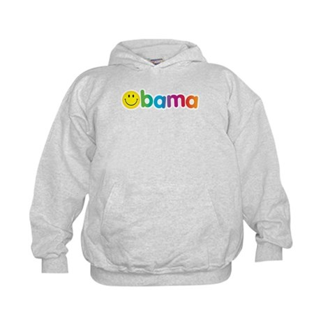 Obama Smiley Face Rainbow Kids Hoodie