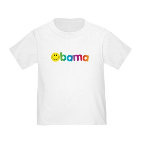 Obama Smiley Face Rainbow Toddler T-Shirt
