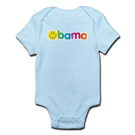 Obama Smiley Face Rainbow Infant Bodysuit
