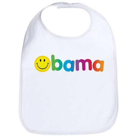 Obama Smiley Face Rainbow Bib