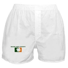 Rockland County Irish (orange Boxer Shorts