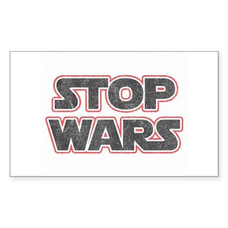 Stop Wars Rectangle Sticker