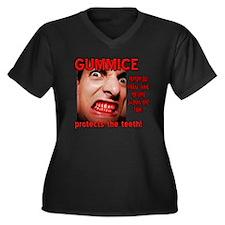 GUMMICE Women's Plus Size V-Neck Dark T-Shirt