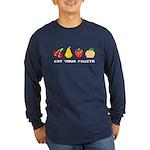 Eat Your Fruits Long Sleeve Dark T-Shirt