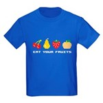 Eat Your Fruits Kids Dark T-Shirt