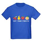 Eat Your Fruits Kids Dark T-Shirt