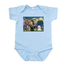 St Francis / Bichon Frise Infant Bodysuit