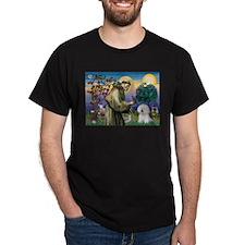 St Francis / Bichon Frise T-Shirt