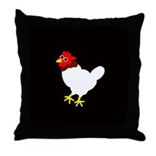 CRISPIN CHICKEN Throw Pillow
