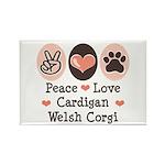 Peace Love Cardigan Welsh Corgi Magnet 100 Pk