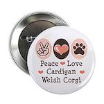 Peace Love Cardigan Welsh Corgi 2.25