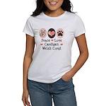 Peace Love Cardigan Welsh Corgi Women's T-Shirt