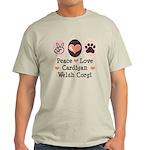 Peace Love Cardigan Welsh Corgi Light T-Shirt
