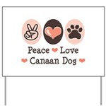 Peace Love Canaan Dog Yard Sign
