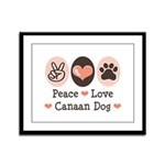 Peace Love Canaan Dog Framed Panel Print