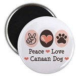Peace Love Canaan Dog Magnet