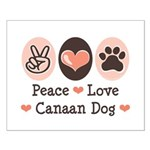 Peace Love Canaan Dog Small Poster