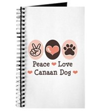 Peace Love Canaan Dog Journal