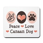 Peace Love Canaan Dog Mousepad
