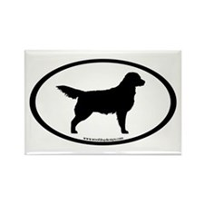 Golden Retriever Oval Rectangle Magnet